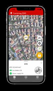 EVO App - Ebike Locked on map